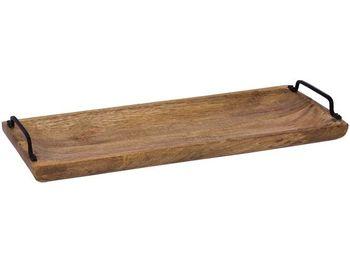 Поднос 50X20X6cm с ручками, из древесины манго