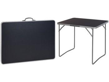 Стол раскладной 80X60X4.5cm, черный, чемодан, металл/пласт