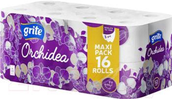 GRITE - Туалетная бумага ORCHIDEA GOLD 3 слоя 16 рулона 21,25м