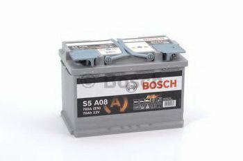Bosch S5 AGM 12V 70Ah 760EN 278x175x190 -/+