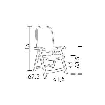 Кресло складное Nardi SALINA ANTRACITE 40290.02.000 (Кресло складное для сада и террасы)