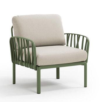 Кресло с подушками c водоотталкивающей тканью для сада и терас Nardi KOMODO POLTRONA AGAVE-TECH panama 40371.16.131
