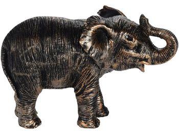 "Статуэтка ""Слон"" 17X11X9cm, керамика, темно-золотой"