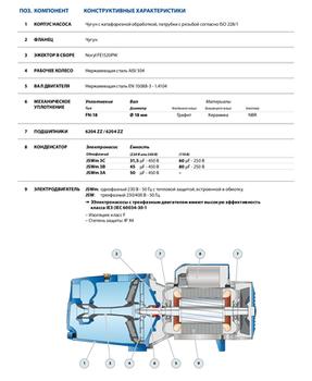 купить Самовсасывающий насос  Pedrollo JSWm/3BL 1.5 кВт в Кишинёве