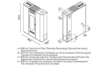Печь пеллетная - REBECCA 11 кВт