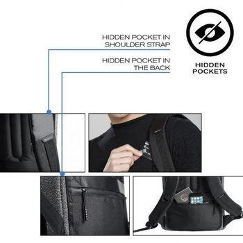 "15.6"" Рюкзак для ноутбука Bobby Urban Lite P705.502, Grey"