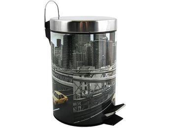 Ведро для мусора с педалью 3l New York, нерж сталь