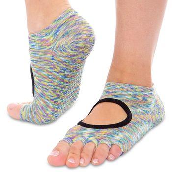 Носки для йоги с открытыми пальцами р.36-41 (полиэстер, хлопок) FI0438 (2792)
