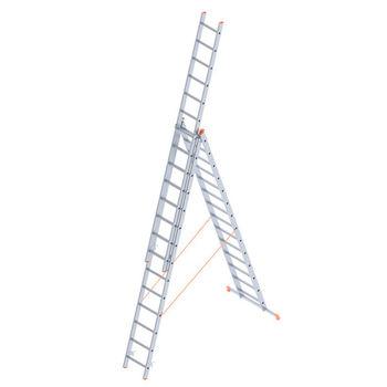 Лестница алюминиевая Sarayli Triple 3x14