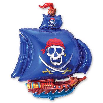 купить Шарик с Гелием - Пиратский Корабль - Синий в Кишинёве