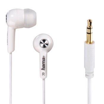 """Hama 135616 """"Basic"""" In-Ear Stereo Earphones, white"""