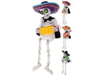 """Сувенир Скелет """"Mexico"""" с музыкальным инструментом 11cm"""