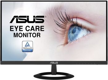 """купить 27.0"""" ASUS """"VZ279HE"""", Black (IPS, 1920x1080, 5ms, 250cd, LED80M:1, D-Sub+HDMI) (27.0"""" IPS : W-LED, 1920x1080 Full-HD, 0.311mm, 5ms (GTG), 250 cd/m², DCR 80mln:1, 16.7M, 178°/178° @C/R>10, HDMI x2 + D-Sub, External Power Adapter, Fixed Stand (Tilt -5/+22°), Black,  - Stylish ultra-slim profile is only 7mm thin;  - Frameless design suitable for multi-display use;  - IPS technology with stunningly wide 178° viewing angles;  - ASUS Eye Care, Flicker-free and Low Blue Light technologies ) в Кишинёве"""