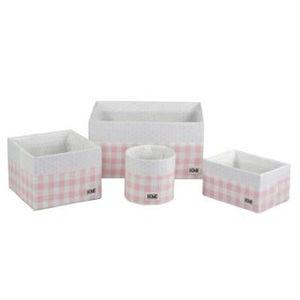 купить Набор 4 коробки h: 130/150/170/200 mm, розовый в Кишинёве