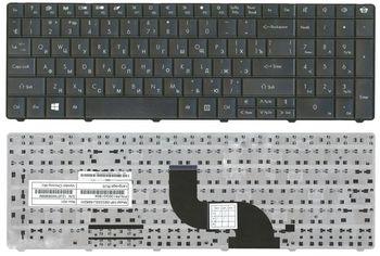 Keyboard Gateway NE56R NE51B NE71B PackardBell EG70 TE69 TM01 TM05 TM80 TM81 LE11 TE11 LM81 LM82 LM83 LM85 TK11 TK81 LM94 ENG/RU Black
