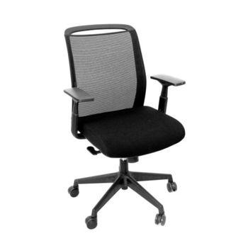 купить Офисный стул с черной сеткой, черным сиденьем и средней спинкой в Кишинёве