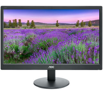 "19.5"" AOC LED e2070Swn Black (5ms, 20M:1, 200cd, 1600x900, VGA, VESA)"