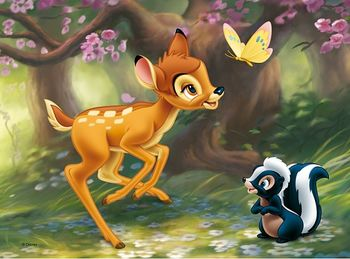 "18132 Trefl Puzzles - ""30"" - Flower and Bambi / Disney Bambi DAF"