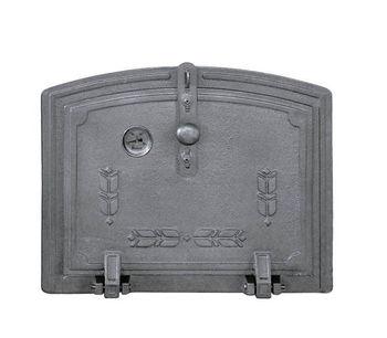 Дверца чугунная для духовки глухая с термометром