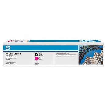 HP #126A Magenta LaserJet Print Cartridge for HP Color LaserJet CP1025/P1025NW, 1000 pages