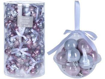 """Набор шаров 12X30mm в шаре с лентой, пластик, """"Whisper Pink"""""""