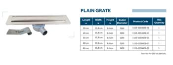 Линейный слив трап для душа Line 1 80cm Shower drain plain grate