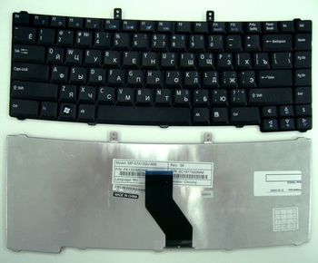 Keyboard Acer Extensa 4220 4230 4420 4520 4630 5220 5230 5420 5620 Travelmate 2200 2450 2490 2700 4150 4200 4250 4650 5710 5720 5730 ENG/RU Black
