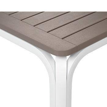 Стол раздвижной Nardi ALLORO 210 EXTENSIBLE TORTORA vern. Bianco 42853.10.000 (Стол раздвижной для сада и террасы)