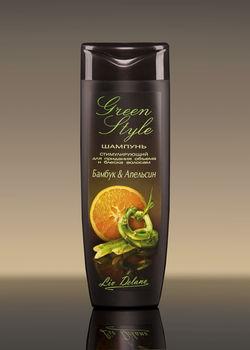 купить Стимулирующий шампунь «Бамбук&Апельсин» для придания объема и блеска волосам Greeen Style в Кишинёве