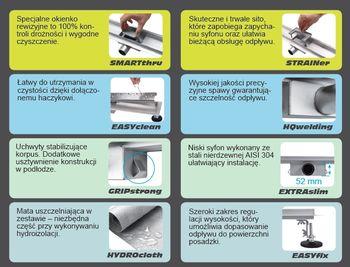 купить 75378 Сливная система Napo 700*70*70mm в Кишинёве