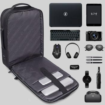 """купить Kлассический деловой рюкзак Bange S-52 для ноутбука дo 15.6"""", с USB портом, водонепроницаемый, черный в Кишинёве"""