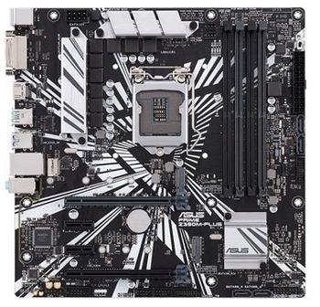 ASUS PRIME Z390M-PLUS, Socket 1151, Intel® Z390 (9th/8th Gen CPU), Dual 4xDDR4-4266, 2xPCIe X16, CPU Intel graphics, DVI, HDMI, DP, 4xSATA3, RAID, 2xM.2, 2xPCIe X1, ALC887 HDA, GbE LAN, 2xUSB3.1 Gen 2, 8xUSB3.1, mATX