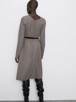 Платье ZARA Серый 5580/648/706