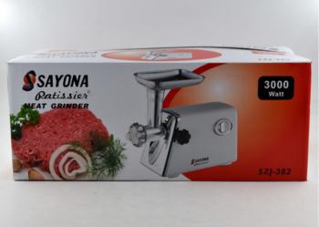 Электрическая мясорубка Sayona SZJ-382