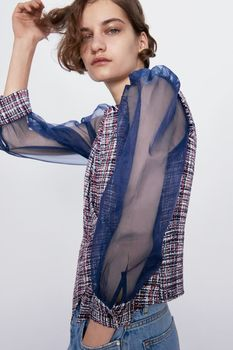 Блуза ZARA Синий 8351/023/330