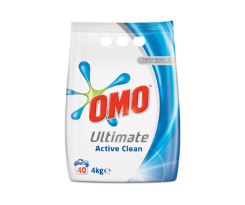 Стиральный порошок Omo Ultimate Active Clean, 4 кг.