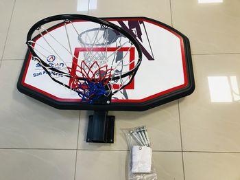 Щит баскетбольный 110x70 см с кольцом и сеткой 48 см Spartan San Francisco S1150 (3664)