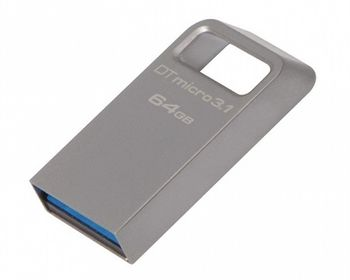 64GB USB3.1Kingston DataTraveler Micro 3.1 Metal casing, Compact and lightweight, World's smallest USB Flash drive (Read 100 MByte/s, Write 15 MByte/s)
