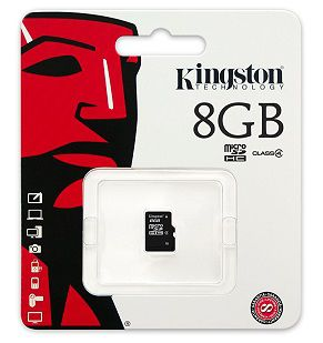 Kingston 8GB microSDHC Class4