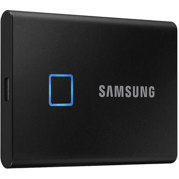 500GB Samsung Portable SSD T7 TOUCH MU-PC500K/WW External SSD, Black, Fingerprint, Read 1050 MB/s, Write 1000 MB/s, USB 3.2/Type-C (SSD extern/внешний SSD)