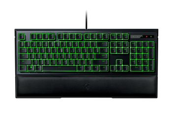 RAZER Ornata / Mecha-Membrane Gaming Keyboard, Razer™ Mecha-Membrane Technology, Mid-height keycaps, Individually backlit keys with Dynamic lighting effects, Fully programmable keys with on-the-fly macro, Ergonomic wrist rest, USB