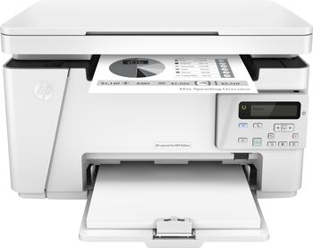 HP LaserJet Pro MFP M26nw Print/Copy/Scan, up to 18ppm, 128MB, 2-line LCD, 600dpi, up to 5000 pages/monthly, HP ePrint, Hi-Speed USB 2.0, 10/100Base-TX (RJ-45), Wi-Fi 802.11b/g/n, CF279A (~1000 pages 5%), Starter ~500 pages, White, USB cable included