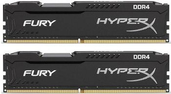 32GB (Kit of 2*16GB) DDR4-3466  Kingston HyperX® FURY DDR4, PC27700, CL19, 1.2V, Auto-overclocking, Asymmetric BLACK heat spreader, Intel XMP Ready  (Extreme Memory Profiles)