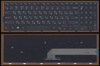 Keyboard Dell Inspiron 3541 3542 3537 5547 5545 5748 5758 5755 5548 5551 5555 5558 3552 5559 Vostro 3546 3558 3559 Latitude 3550 ENG/RU Black