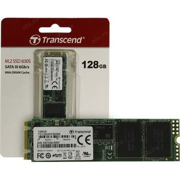 """M.2 SATA SSD  128GB Transcend  """"TS128GMTS830S"""""""