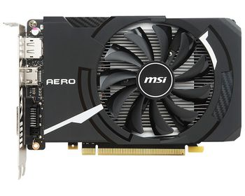 MSI GeForce GTX 1050 AERO ITX 2G OCV1 /  2GB DDR5 128Bit 1518/7008Mhz, DVI, HDMI, DisplayPort, Single fan, Military Class 4 (MIL-STD-810G), Gaming App, Retail