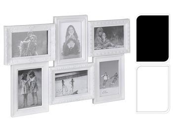 Фоторамка - коллаж 6фото (10X15cm) белая/черная