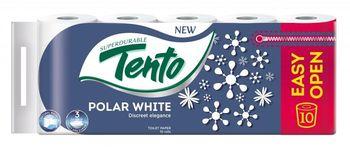 Туалетная бумага TENTO 3 слоя 15м*10 Polar White