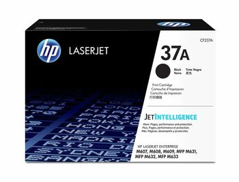 HP 37A Black Original LaserJet Toner Cartridge (11000 pages), Compatible with M607, M608, M609 Printer Series, M631, M632 MFP Series