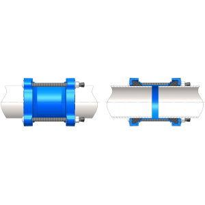 купить Муфта универсальная чугун (шир.диап) WATO dn 80 (84-105) PN10-16 д/стал, чугун, асбест и ПВХ труб в Кишинёве